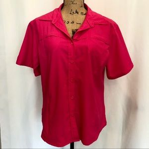 MAGELLAN MagWik Pink Fishing Shirt Top EUC